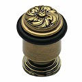 Door Stops Antique Brass Daisy Door Bumper Floor Mount