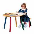 Children's Tables Hardwood Child Table & Stool Fun Color Legs